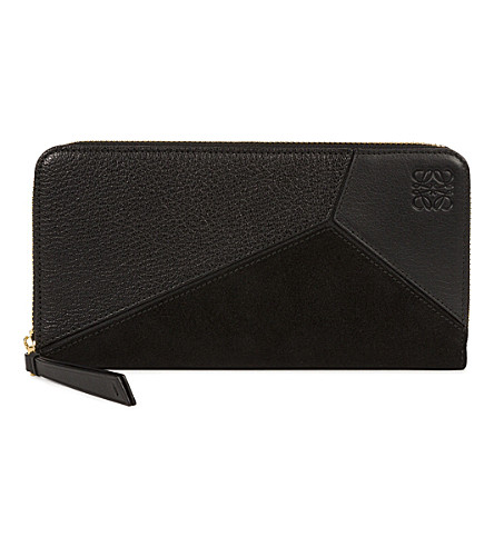 LOEWE Puzzle zip-around leather wallet (Black