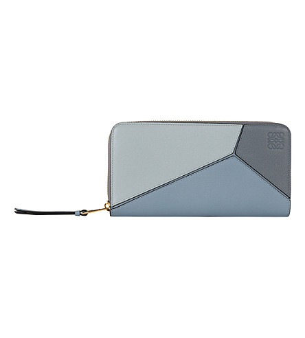 LOEWE Puzzle leather wallet (Aqua/blue