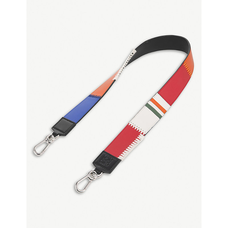 LOEWE PATCHWORK THIN LEATHER STRAP