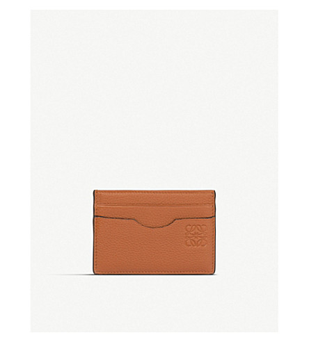 LOEWE Plain leather card holder (Ginger/smoke+grey