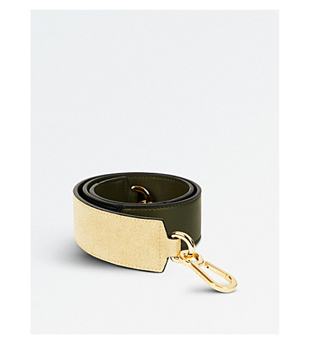 LOEWE Degrade leather shoulder strap (Gold/grn/blk