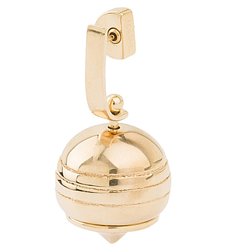 LOEWE Stone Fruit gold-plated earring (Gold