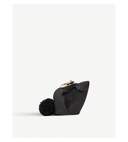 LOEWE Bunny leather charm (Black