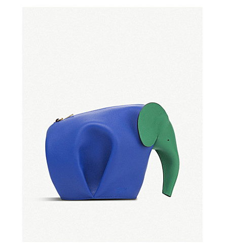 LOEWE Elephant mini leather shoulder bag (Multicolor/orange