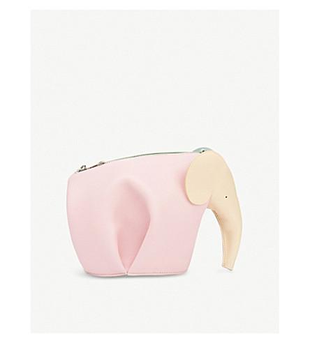 LOEWE Elephant mini leather bag (Multicolour