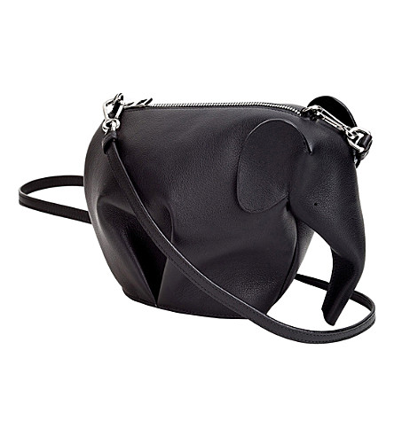 LOEWE Elephant minibag leather shoulder bag (Black
