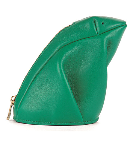 LOEWE Frog leather coin purse (Green