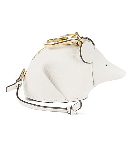 Loewe white mouse leather bag charm 2018 New For Sale Very Cheap Sale Online m4WPZ