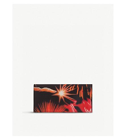 LOEWE Fireworks zip-around leather wallet (Multicolour