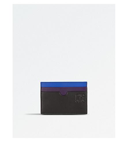 LOEWE Rainbow leather card holder (Multicolour