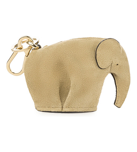 LOEWE Elephant leather charm (Gold