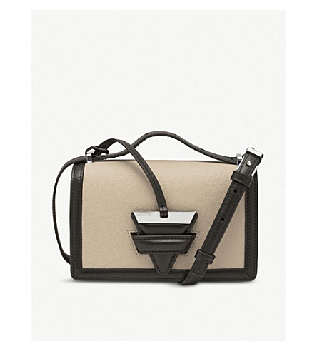 LOEWE Barcelona small leather shoulder bag (Oat/khaki+green