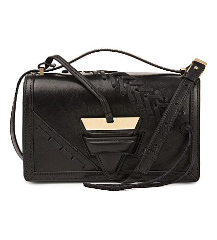 LOEWE Barcelona laced large leather shoulder bag (Black