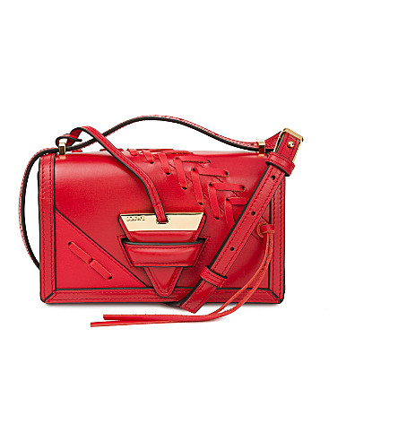 LOEWE Barcelona laced small leather shoulder bag (Red