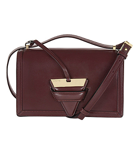 LOEWE Barcelona leather shoulder bag (Burgundy