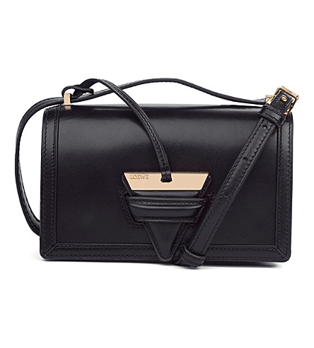 LOEWE Barcelona small leather shoulder bag (Black