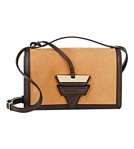LOEWE Barcelona suede shoulder bag (Caramel/chocolate