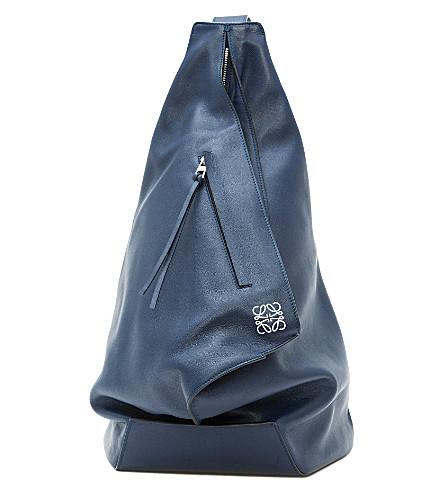 LOEWE Anton leather backpack (Navy+blue