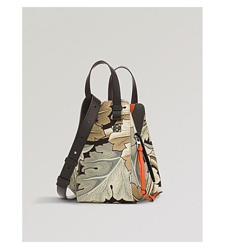 LOEWE Hammock Camo small canvas shoulder bag (Green+multitone