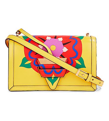 LOEWE Barcelona flower leather shoulder bag (Yellow