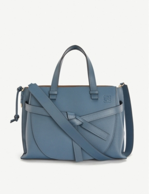 Gate top-handle small leather tote bag(8320140)