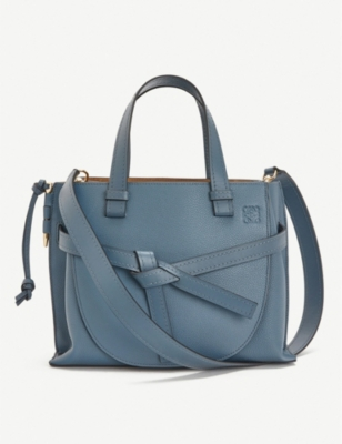 Gate top-handle small leather tote bag(8320142)