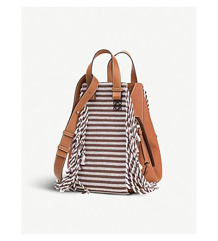 LOEWE Hammock Scarf medium leather shoulder bag (Tan/tan/brown
