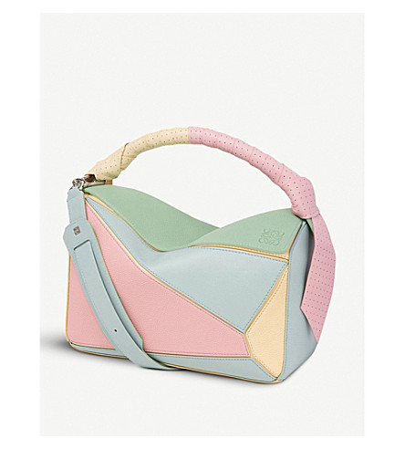 LOEWE Puzzle wrap-handle leather shoulder bag (Multicolour