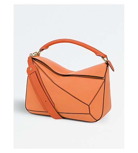 LOEWE Puzzle multi-function leather bag (Apricot/orange