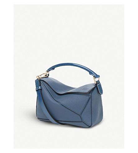 LOEWE Puzzle small multi-function leather bag (Indigo