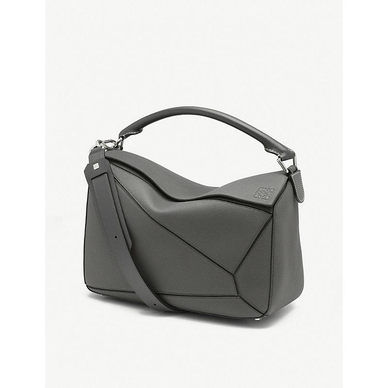 Puzzle large leather shoulder bag