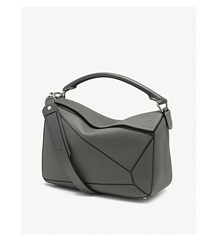LOEWE Puzzle leather shoulder bag (Anthracite