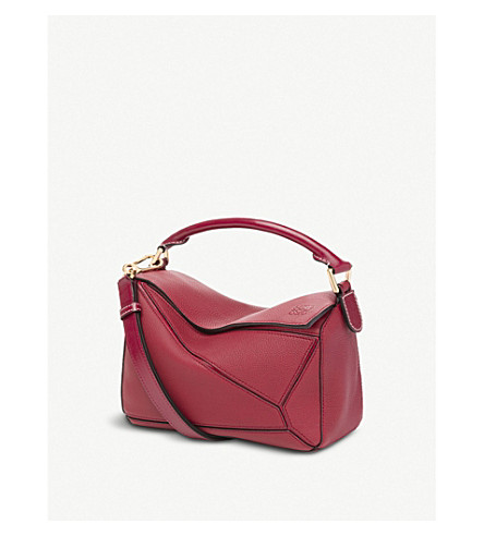 LOEWE Puzzle multi-function leather bag (Rouge