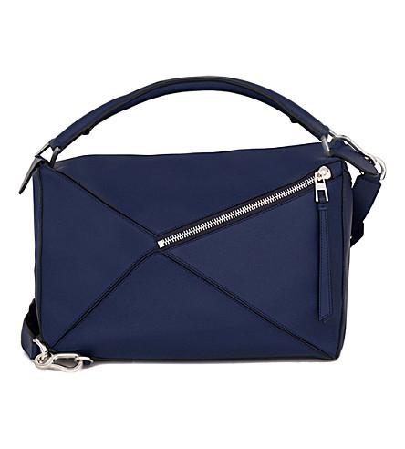 LOEWE Puzzle leather shoulder bag large (Marine