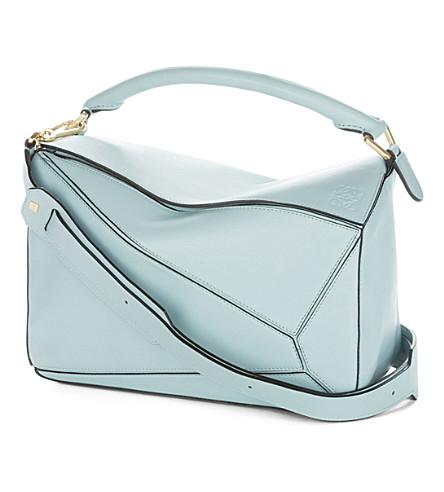 LOEWE Puzzle shoulder bag (Aqua