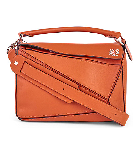 LOEWE Puzzle multi-function leather bag (Coral