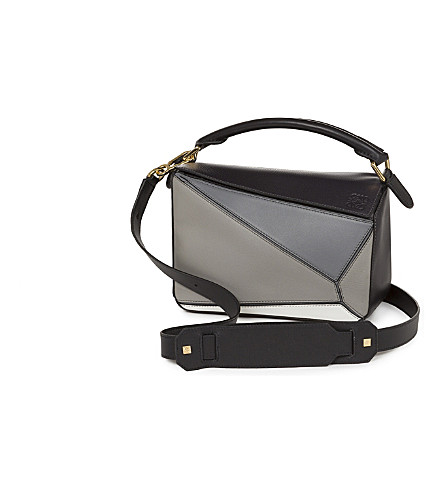 LOEWE Puzzle small shoulder bag (Grey+multitone