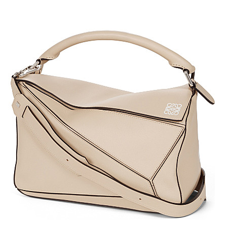 LOEWE Puzzle leather shoulder bag (Ash