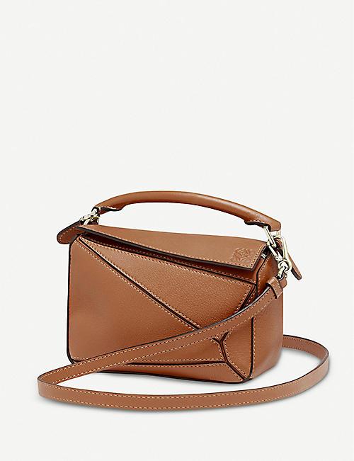 LOEWE Puzzle mini leather shoulder bag