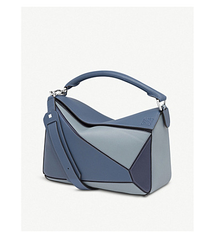 bag small multito shoulder leather Puzzle blue Puzzle bag Varsity small leather shoulder Varsity LOEWE LOEWE qq14R