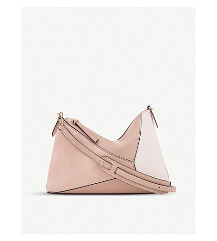 LOEWE Puzzle Mini leather shoulder bag (Blush+multitone
