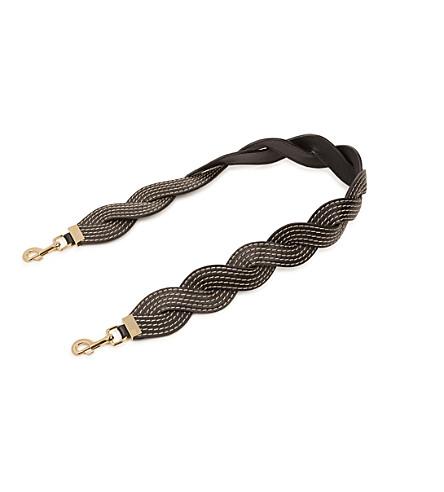 LOEWE Wavy Stitches leather strap (Black