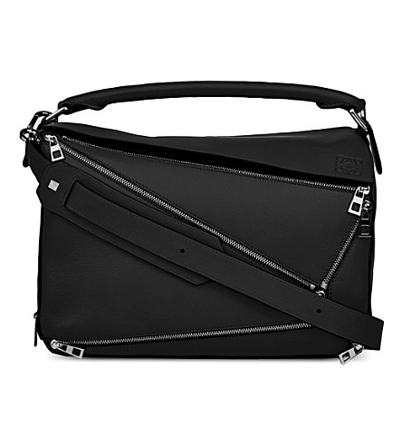 LOEWE Puzzle zip-detail leather multi-function bag (Black