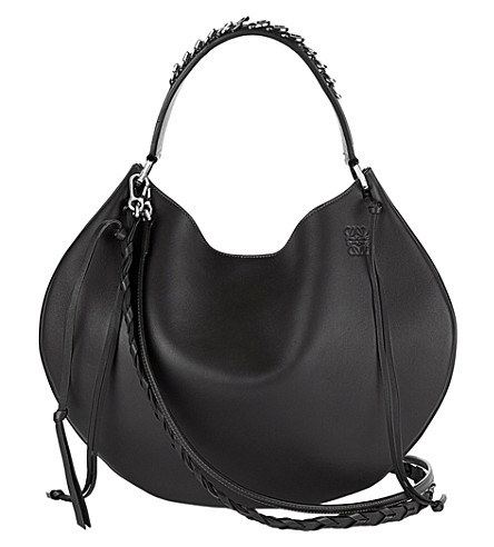 LOEWE Fortune slouchy leather shoulder bag (Black