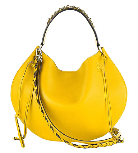 LOEWE Fortune slouchy leather shoulder bag (Yellow