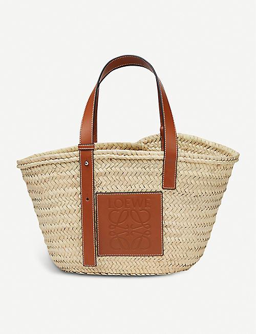LOEWE Open raffia basket bag