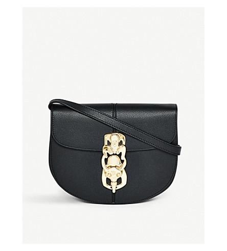 LOEWE Lapin leather saddle bag (Black