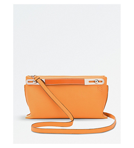 LOEWE Missy leather mini bag (Apricot/orange