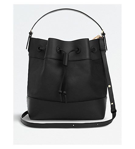 LOEWE Midnight leather bucket bag (Black