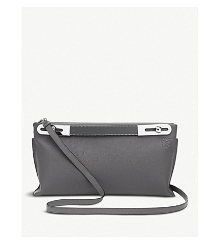 LOEWE Missy small leather bag (Anthracite